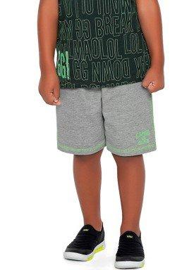 bermuda moletinho infantil masculina gamer mescla fakini 2264 2