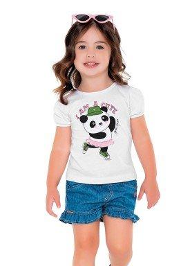 blusa meia malha infantil feminino cute branco fakini 2503 1
