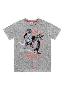 camiseta meia malha infantil masculina trex mescla fakini 2269
