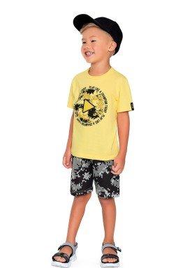conjunto camiseta e bermuda infantil masculino champion amarelo fakini 2231 1
