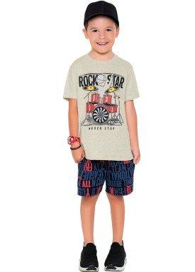 conjunto camiseta e bermuda infantil masculino rock star mescla fakini 2278 1