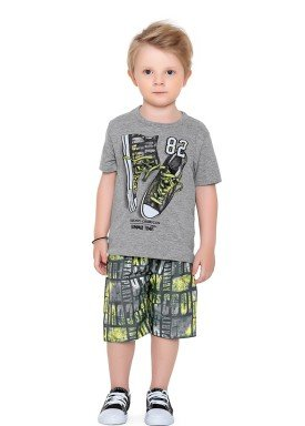 conjunto camiseta e bermuda infantil masculino shoes mescla fakini forfun 2184 1