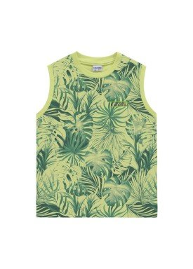 regata meia malha infantil masculina leaves verde fakini 2251