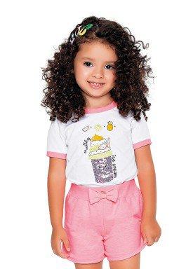 blusa meia malha infantil feminina ice cream branco fakini 2048 1