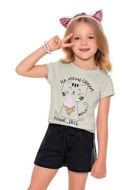 blusa meia malha infantil feminina meow mescla fakini 2077 1