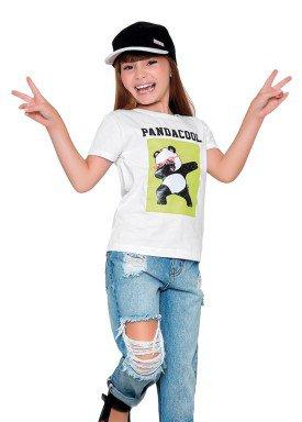blusa meia malha infantil feminina pandacool branco fakini 2098 1