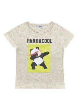 blusa meia malha infantil feminina pandacool mescla fakini 2098