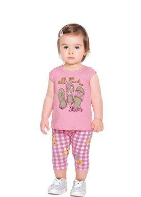 conjunto blusa e capri bebe feminino shoes rosa fakini forfun 2151 1