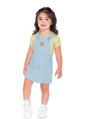 conjunto blusa e salopete infantil feminino borboleta amarelo fakini 2030 1