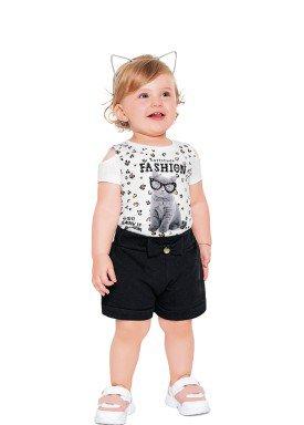 conjunto blusa meia malha short moletinho bebe feminino fashion branco fakini 2014 1