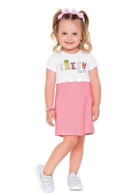 vestido meia malha e moletinho infantil feminino fresh cute branco fakini 2047 1