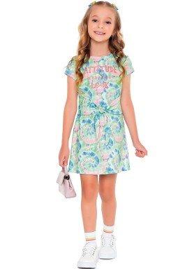 vestido meia malha infantil feminino attitude verde fakini 2089 1
