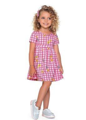 vestido meia malha infantil feminino flores rosa fakini forfun 2160 1
