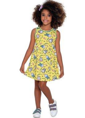 vestido meia malha infantil feminino school amarelo fakini forfun 2169 1