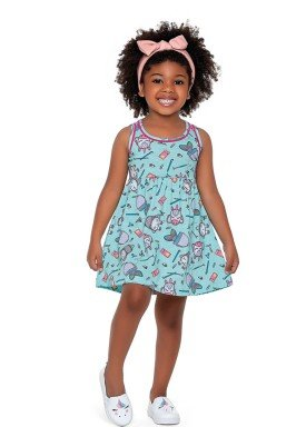 vestido meia malha infantil feminino school azul fakini forfun 2157 1