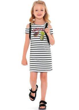 vestido meia malha infantil feminino tropicool branco fakini 2105 1