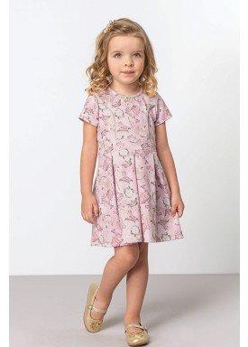 vestido jacquard infantil feminino princess rosa dingdang 853201 1