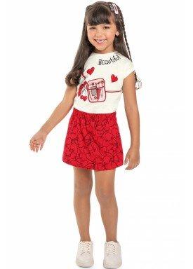 conjunto blusa e short saia infantil feminino beautiful natural beeloop 13859 1