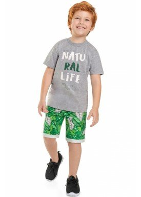 conjunto camiseta e bermuda juvenil masculino natural life mescla beeloop 13870 1