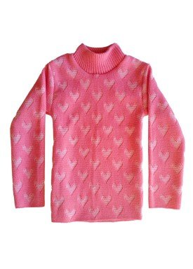 blusa la infantil feminina coracoes rosa remyro 0105 1