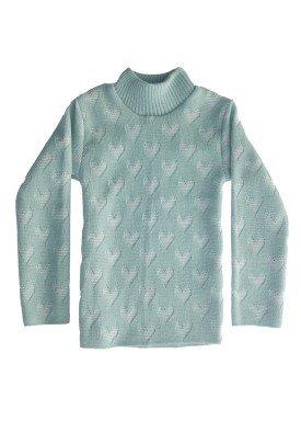 blusa la infantil feminina coracoes verde claro remyro 0105 1
