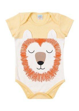 body suedine bebe masculino animais baunilha marlan 40476