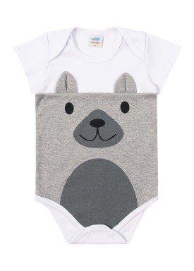 body suedine bebe masculino animais branco marlan 40476