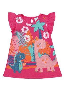 vestido meia malha bebe feminino dinos rosa marlan 40437 1