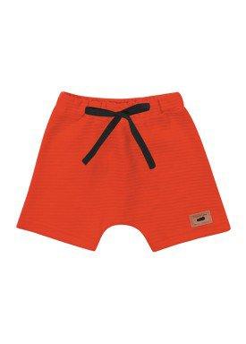 bermuda gorgurinho bebe infantil masculina laranja marlan 40417