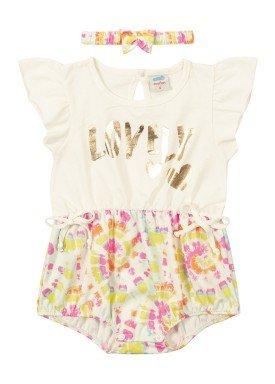 macacao faixa cabelo bebe feminino lovely marfim marlan 40423
