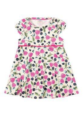 vestido ponto roma bebe feminino cerejas marfim marlan 40430