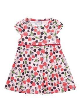 vestido ponto roma bebe feminino cerejas rosa marlan 40430