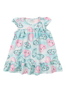 vestido versalhes bebe feminino nuvens azul marlan 40421