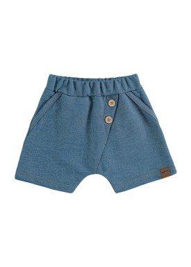 bermuda fleece jeans bebe masculino azul marlan 60438