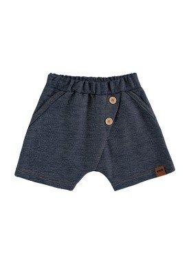 bermuda fleece jeans bebe masculino marinho marlan 60438