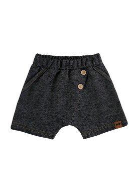 bermuda fleece jeans bebe masculino preto marlan 60438
