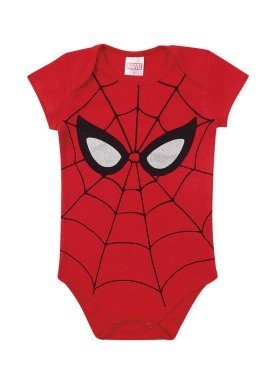 body suedine bebe masculino homem aranha vermelho marlan a4004