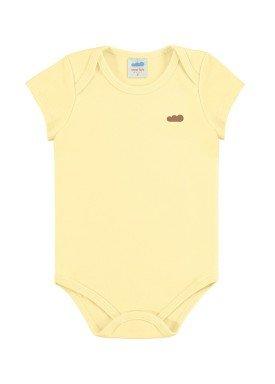 body suedine bebe unissex amarelo marlan 54138