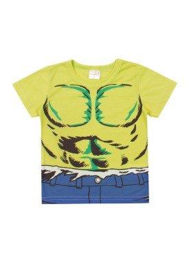camiseta meia malha bebe masculina hulk verde marlan a6010