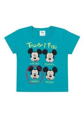 camiseta meia malha bebe masculina mickey azul marlan d4194