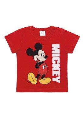 camiseta meia malha bebe masculina mickey vermelho marlan d4194