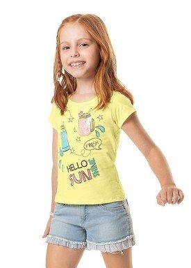 camiseta meia malha infantil feminina sunshine amarelo marlan 44768 1