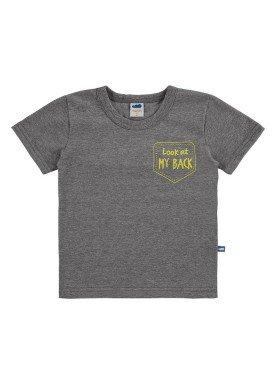 camiseta meia malha infantil masculina my back mescla marlan 62521