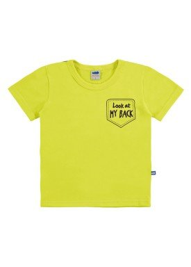 camiseta meia malha infantil masculina my back verde marlan 62521