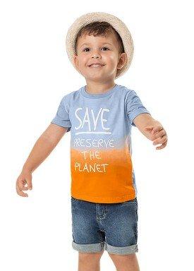 camiseta meia malha infantil masculina save the planet azul marlan 42501 1