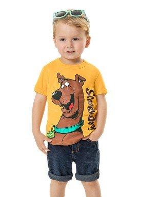 camiseta meia malha infantil masculina scooby doo amarelo marlan g4204 1