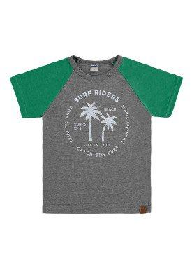camiseta meia malha infantil masculina surf riders mescla marlan 64611