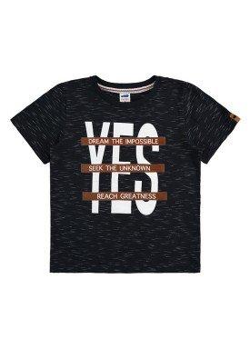 camiseta meia malha jet infantil masculina yes preto marlan 64602