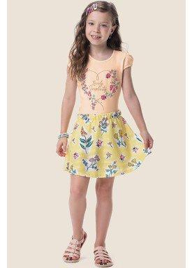 conjunto blusa e saia infantil feminino joaninhas laranja marlan 64576 1