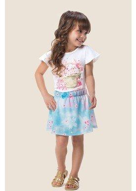 conjunto blusa e saia infantil feminino little lady branco marlan 62488 1